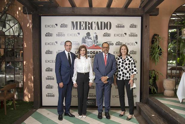 Servio Tulio Castaños, Patricia De Moya, Antoliano Peralta y Josefina Vega de Montes.