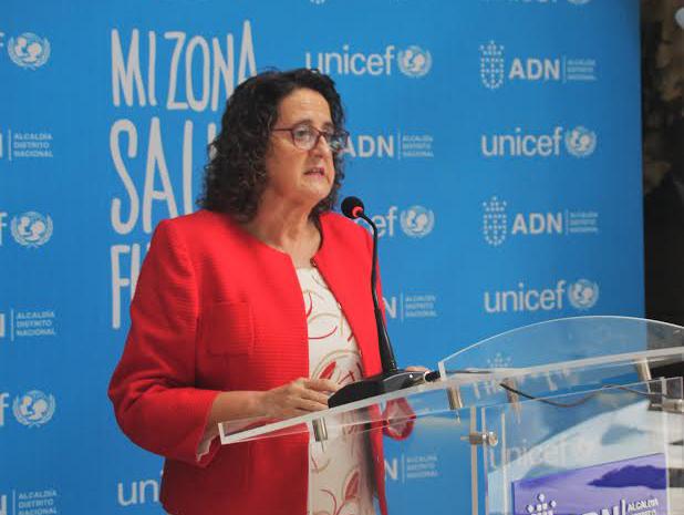 Representante del Fondo de las Naciones Unidas para la Infancia (UNICEF) Rosa Elcarte.