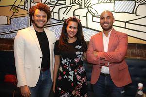 José Miguel Guerrero, Cristina Rodríguez y Jean Carlos Núñez.