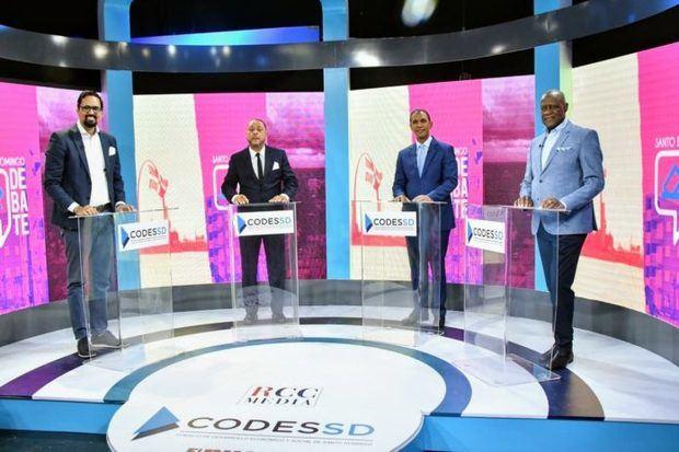 Cuatro candidatos a Alcaldía del DN exponen planes en Santo Domingo Debate.