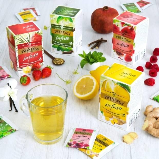 Twinings, presenta de su nueva gama Infuso, una selección de deliciosas mezclas de frutas y hierbas