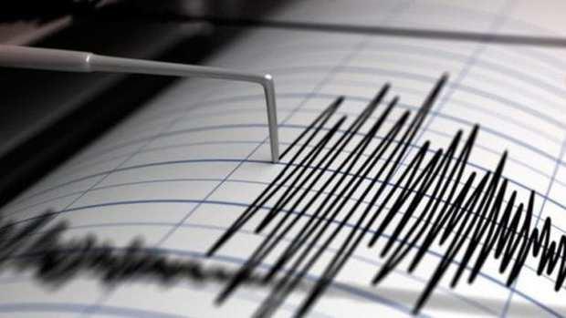 Vista de un sismógrafo, detector de sismos.