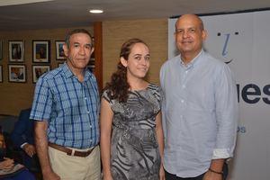 Guillermo Sención, Eliana Lacruz y José Enrique Delmonte.