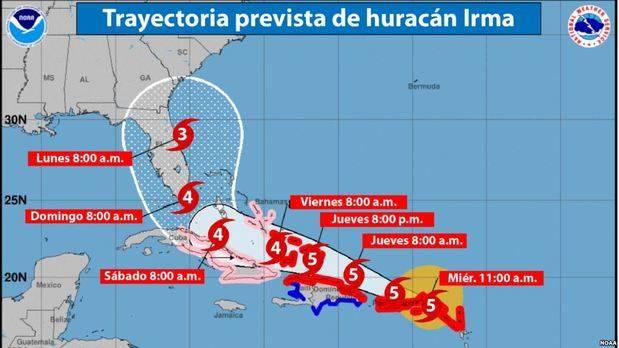 Fuertes tormentas afectan al sur de Florida ante la cercanía de Irma