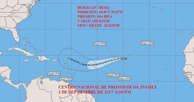 RD emite alerta meteorológica por evolución de Irma
