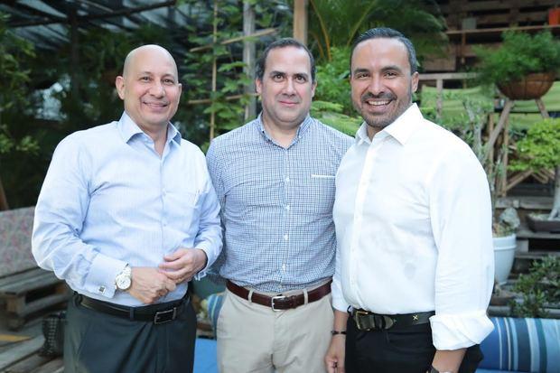 Alexis Troncoso, Donald Pimentel y Javier Tejada.
