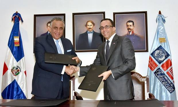 Andres Navarro y Luisín Mejia establecen alianza entre educacion y COD para fortalecer deporte escolar