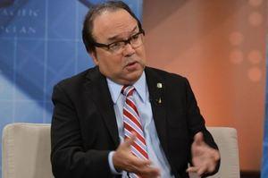 Dirigente del partido minoritario Fuerza Nacional Progresista, FNP, Vinicio Castillo Selman.
