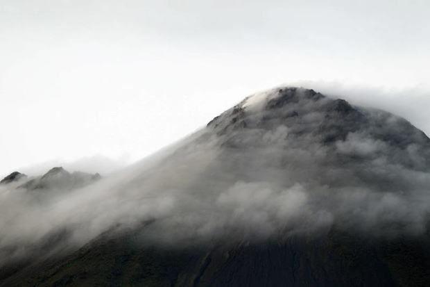 Vista del volcán Arenal, ubicado en La Fortuna, zona norte de Costa Rica.