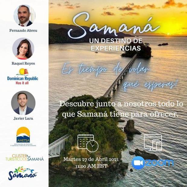 Webinar promueve vuelo a Samaná.