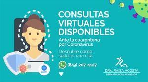 Consultas dermatológicas virtuales.