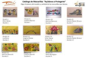 Catalogo de mascarillas artísticas disponibles.