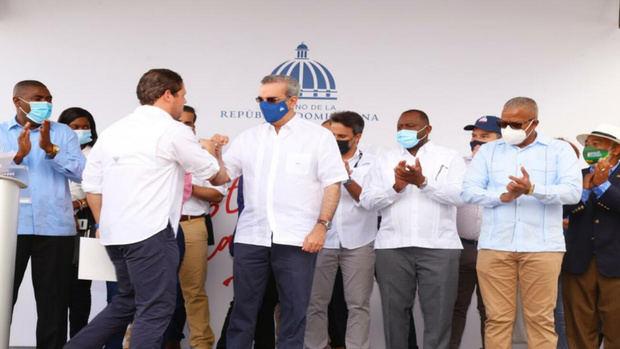 Luis Abinader deja reanudado los trabajos de construcción del hospital de Villa Hermosa en La Romana