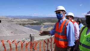 Presidente anuncia la terminación de la presa Monte Grande .
