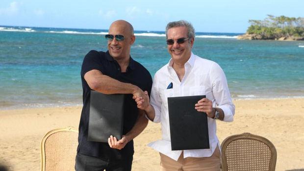 Abinader anuncia la creación de estudio de cine dirigido por Vin Diesel en Puerto Plata