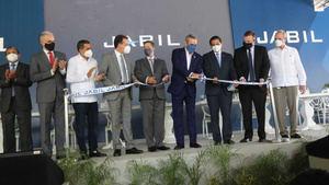 El presidente Luis Abinader participó este lunes en el acto inaugural de la planta de producción Jabil Healthcare Industries.