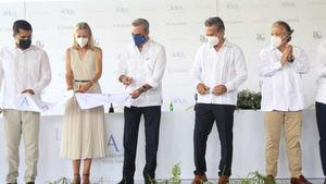 El presidente Luis Abinader participó este jueves en la inauguración del complejo turístico Live Aqua Beach Resort.