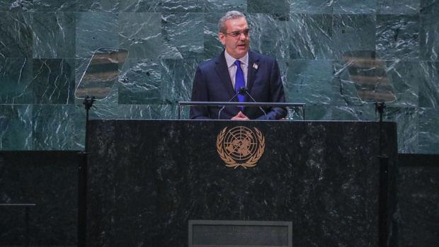 Presidente Abinader en su discurso en la ONU