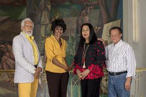 Los artistas, Antonio Guadalupe, Elsa Núñez, Rosa Tavárez y José Perdomo