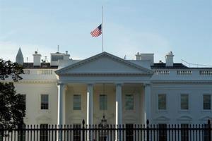Vista de la Casa Blanca en Washington, DC, EE.UU., este 4 de octubre de 2020.