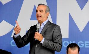 Candidato a la presidencial por el Partido Revolucionario Moderno, PRM, Luis Abinader.
