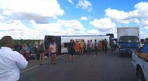 Al menos 41 heridos en un accidente de autobús con turistas rusos en República Dominicana