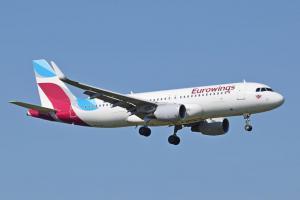 Aerolínea alemana Eurowings aumenta frecuencia de vuelos en su ruta