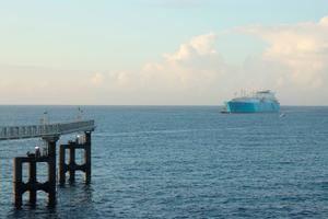"""AES lanza nueva solución de """"Gas Natural Verde""""; llega el primer cargamento con emisiones de carbono neutral a El Caribe."""