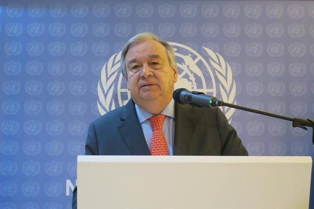 En la imagen, el secretario general de la Organización de Naciones Unidas, ONU, António Guterres.