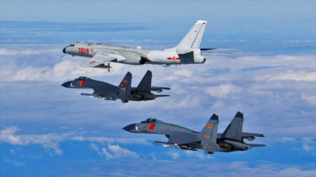 Aviones chinos volaron cerca de la isla taiwanesa