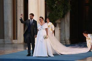 El hijo menor del exrey de Grecia Constantino y Ana María de Grecia, Filippos, contrajo matrimonio este sábado con Nina Flohr.