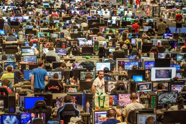 Vista general de la Euskal Encounter, el encuentro informático más antiguo de España.