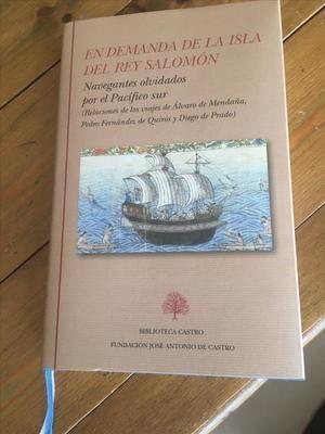 Portada del libro 'En demanda de la isla del rey Salomón', editado por el académico de la RAE Juan Gil. Editorial Biblioteca Castro.