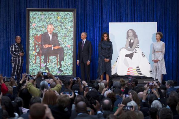 Barack y Michelle Obama, la primera pareja afroamericana en la Galería Nacional del Retrato de Washington