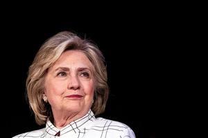 Imagen de la exsecretaria de Estado de EE.UU. Hillary Clinton.