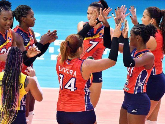 Equipo de voleibol femenino las Reinas del Caribe.