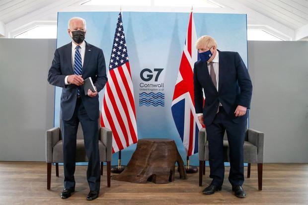 Joe Biden, y el primer ministro británico, Boris Johnson.