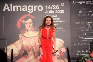 La actriz y cantante Ana Belén durante el acto de entrega del 'Premio Corral' que ha recibido esta noche en la 43 edición del Festival de Teatro Clásico de Almagro.