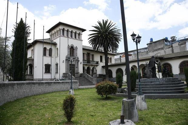 Vista de la edificación 'La Circaciana', el 20 de octubre de 2020, construida a en el siglo XIX en el barrio 'La Mariscal' de Quito, Ecuador.