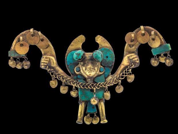Fotografía sin fecha cedida por el Museo de Arte de Boca Ratón donde se muestra una de las piezas que formarán parte de la exposición 'Machu Picchu y los imperios dorados del Perú'.