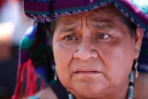 La premio Nobel de la Paz Rigoberta Menchú.