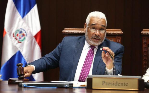 Presidente de los diputados, Radhamés Camacho.