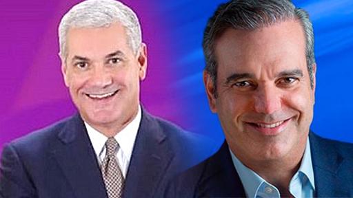 Candidatos a la presidencia Gonzalo Castillo y Luis Abinader.