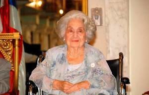 Carmen Quidiello, viuda del exgobernante Juan Bosch.