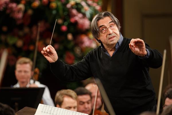 Imagen de archivo del maestro italiano Riccardo Muti. en el ensayo de la Filarmónica de Viena para el tradicional Concierto de Año Nuevo 2018 en Viena.