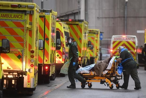 El Reino Unido registra 1.295 nuevas muertes por coronavirus.