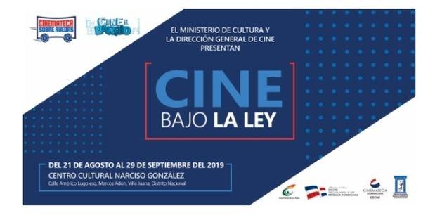 Afiche de la muestra Cine bajo la Ley.
