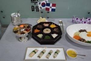 Platos de la gastronomía coreana.