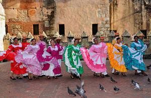 Una muestra de la expresión del baile folclórico dominicano.