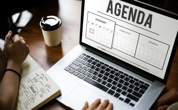Agenda de actividades para comenzar semana